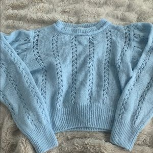 Topshop Crocheted Sweater